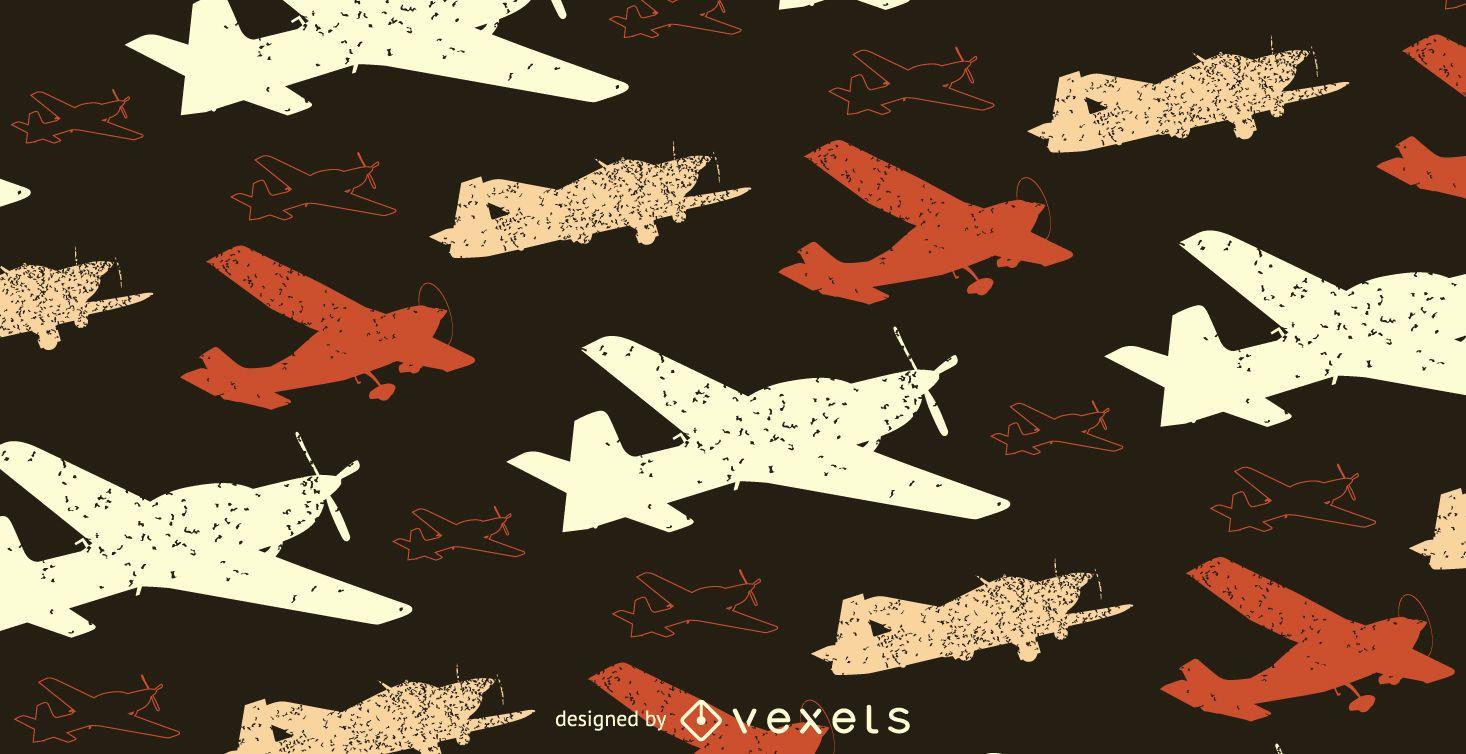 Grunge plane pattern