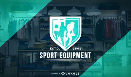 Design de modelo de logotipo de loja de desporto