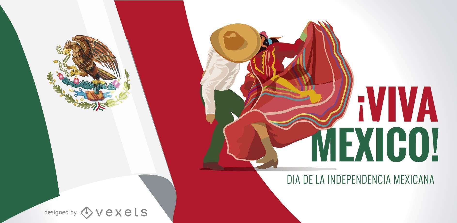 Viva Mexico Independence Day banner design