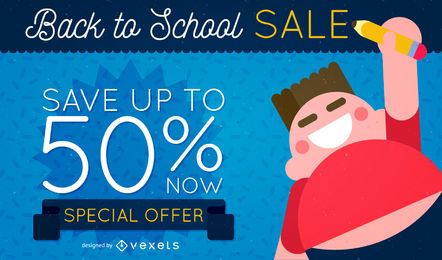 Back to School poster sale design