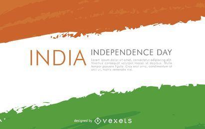 Bandeira da Índia para o Dia da Independência
