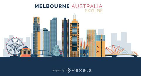 Melbourne skyline design