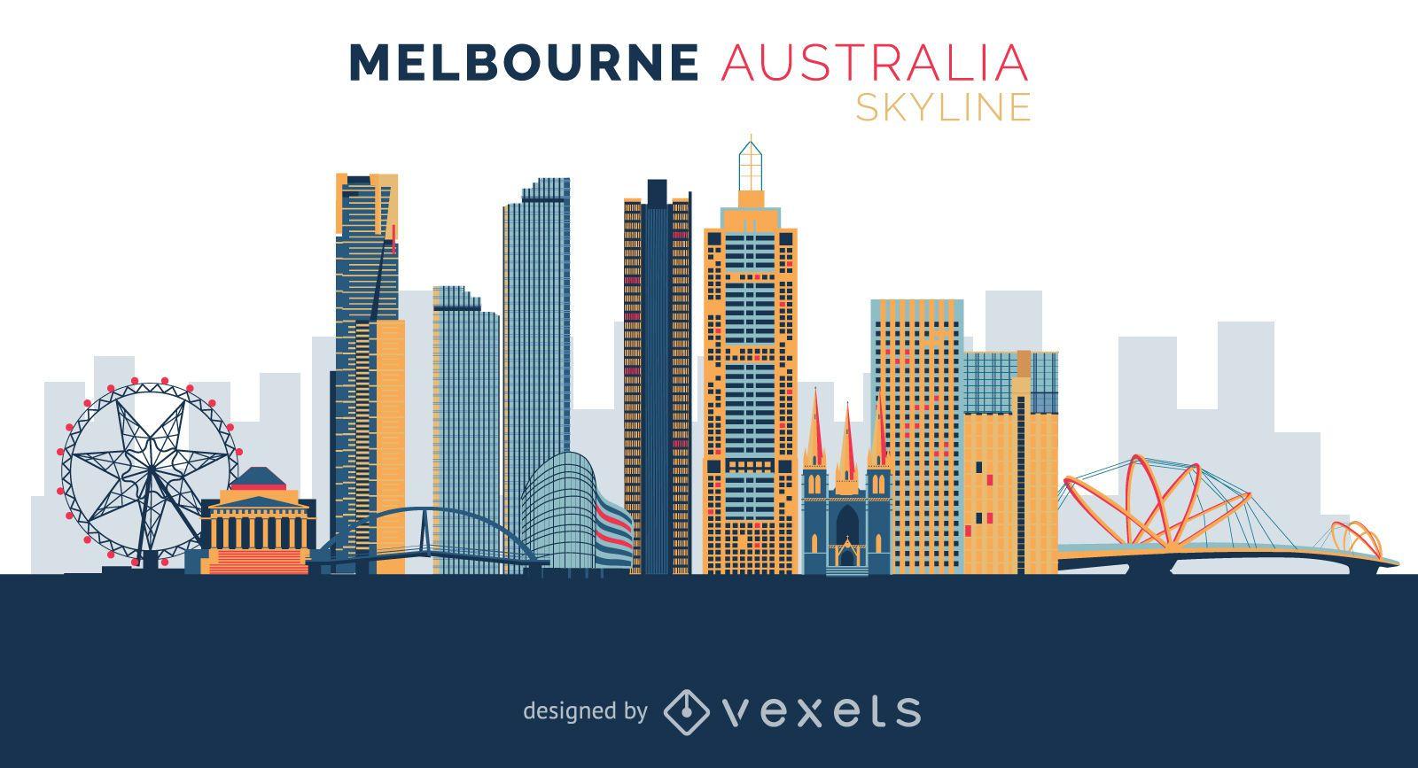 Melbourne skyline design