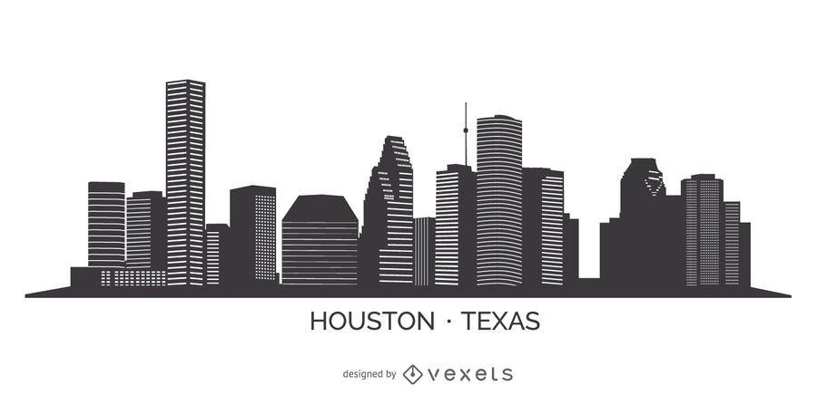 Skyline de silhueta de Houston