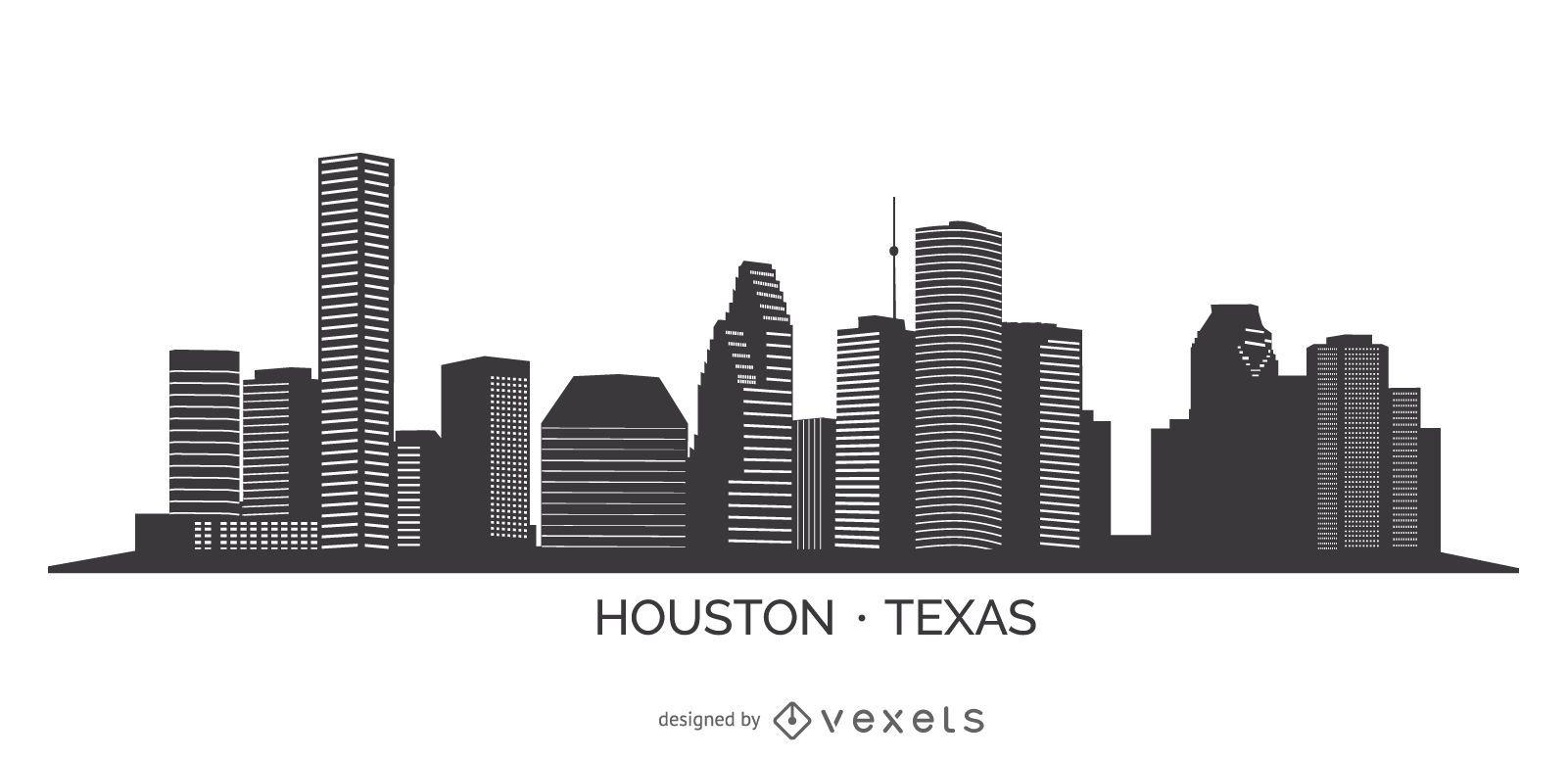 Silhueta do horizonte de Houston