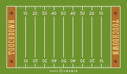 Ilustración del campo de fútbol americano
