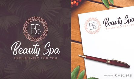 Design de modelo de logotipo delicado Spa