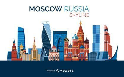 Desenho do horizonte de Moscou