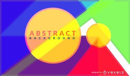Diseño de fondo de formas geométricas coloridas