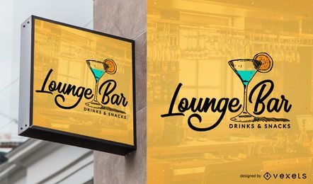 Bar logo template design