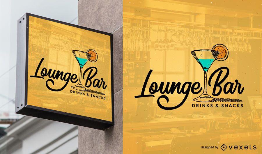 Bar-Logo-Vorlage Design