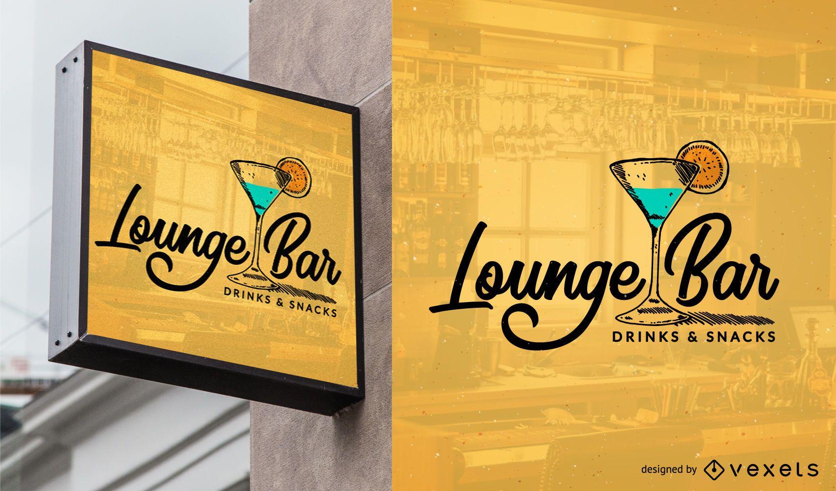 Bar logo template design