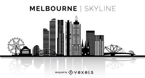 Melbourne silueta horizonte