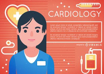 Cardiologist illustration with doctor
