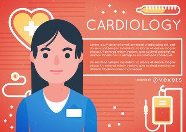 Kardiologenillustration mit Arzt