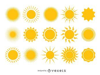 Colección de sol amarillo brillante