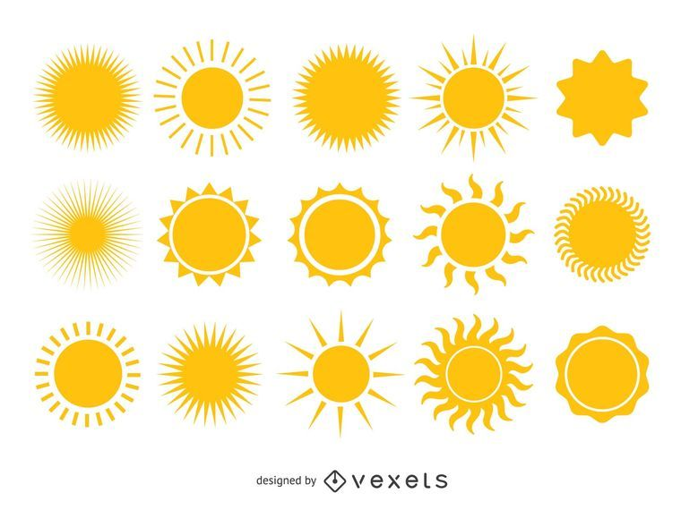 Bright yellow sun collection