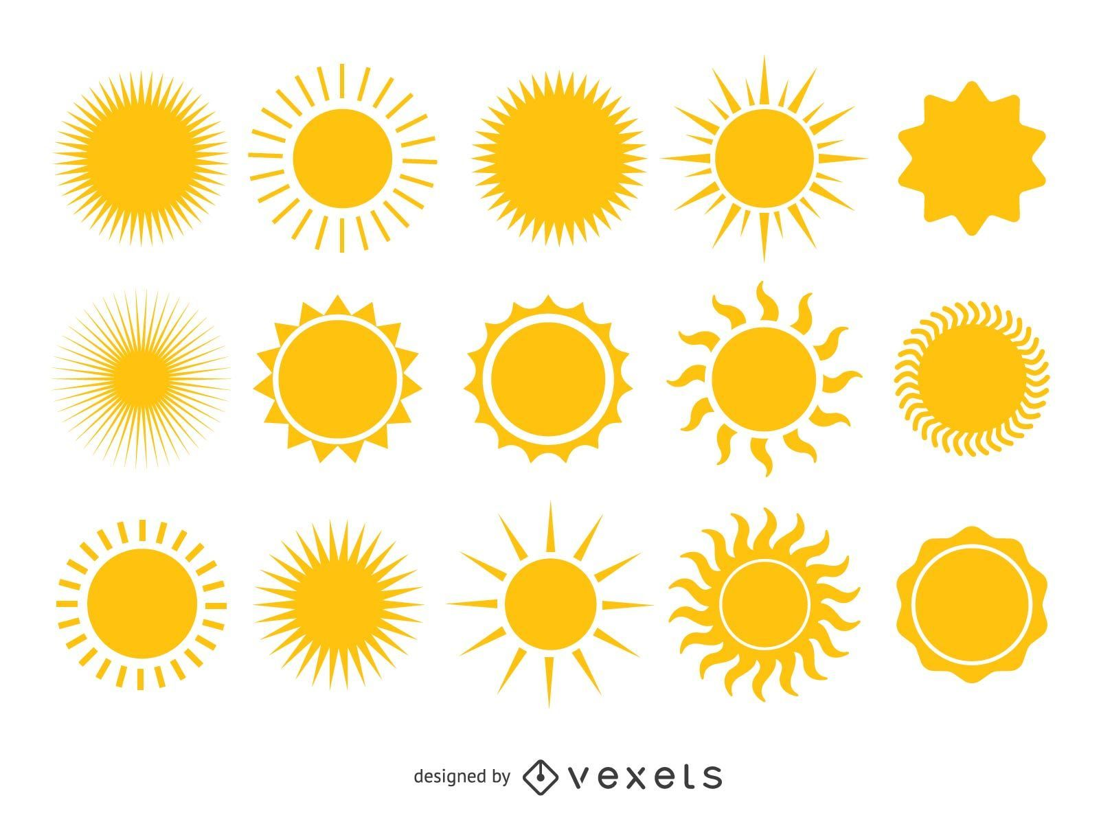 Colección sol amarillo brillante