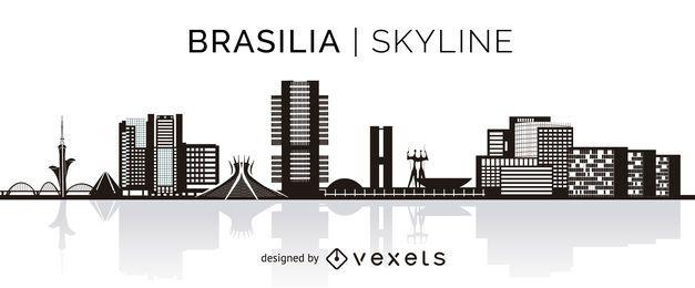 Horizonte de silhueta de Brasília