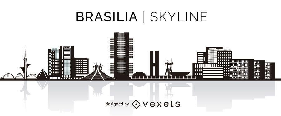 Skyline de silhueta de Brasília