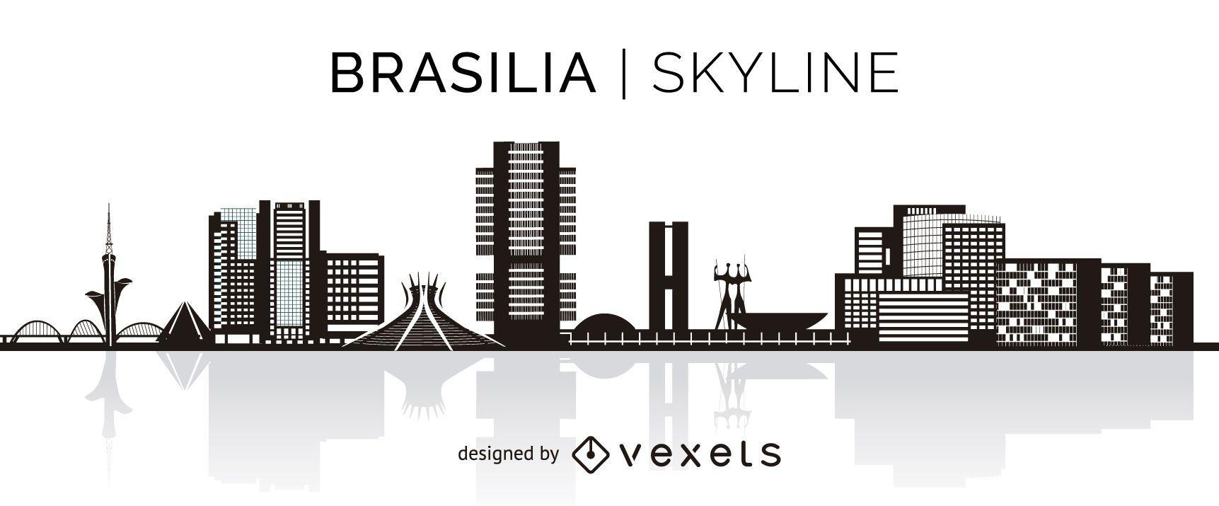 Brasilia silhouette skyline