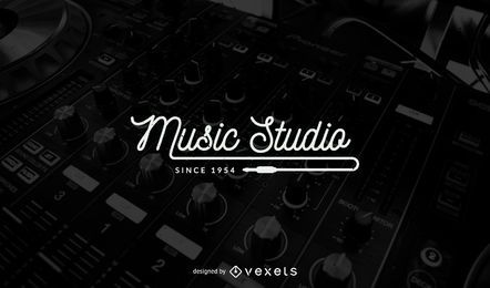 Music studio logo template design