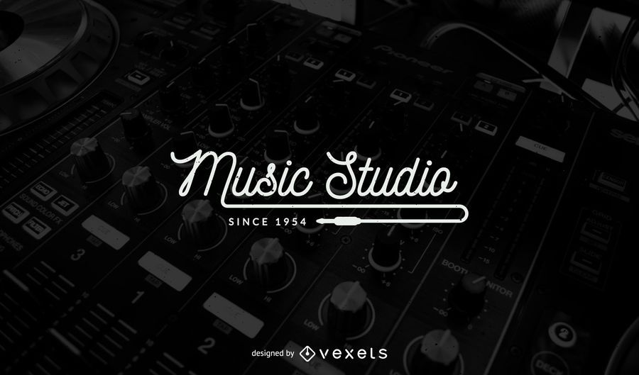 Design de modelo de logotipo de estúdio de música