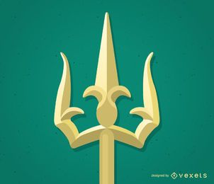 Trishul trident illustration