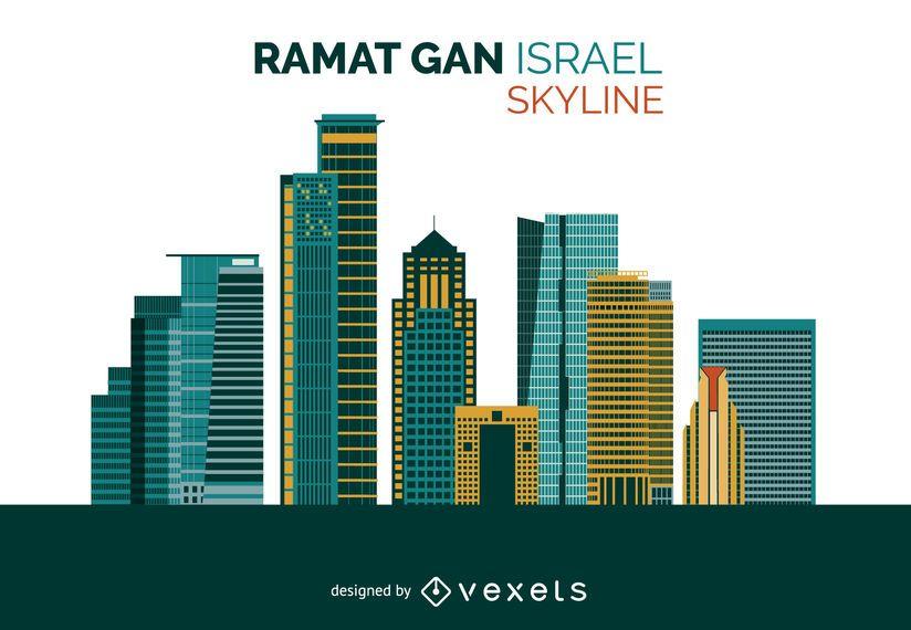 Ramat Gan skyline design