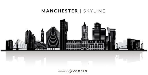 Horizonte de la silueta de Manchester