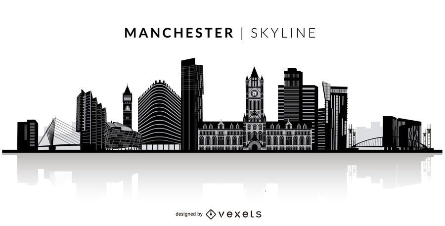 Manchester silhouette skyline