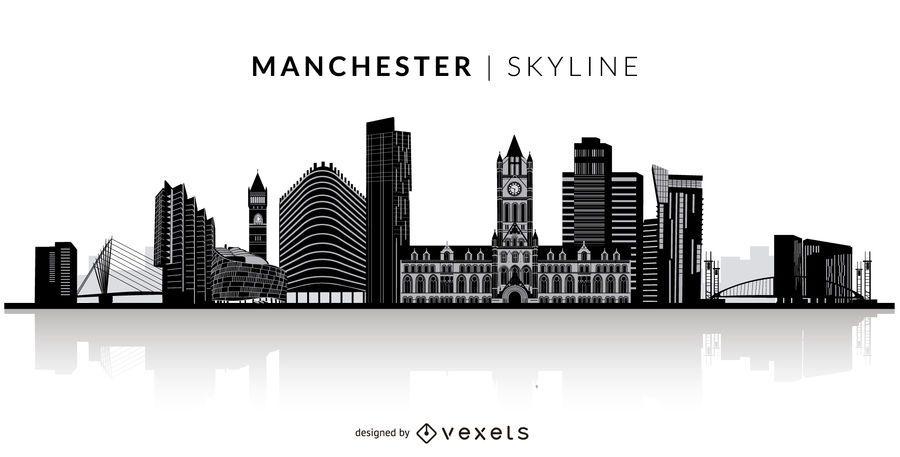 Skyline de silhueta de Manchester