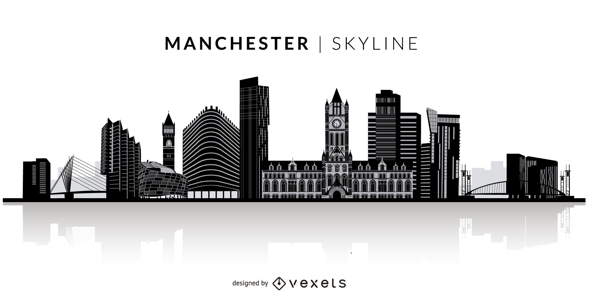 8fb4f5715c9557f360a31acd82eeaab6 manchester silhouette skyline