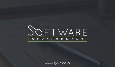 Modelo de logotipo de desenvolvimento de software