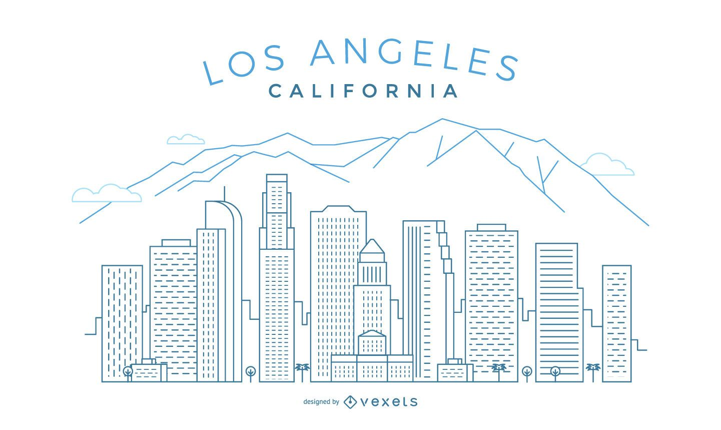 Los Angeles stroke skyline