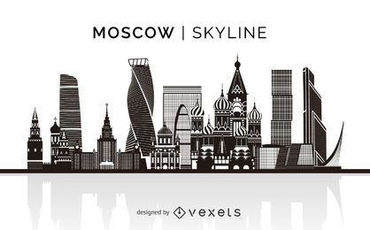 Moscow silhouette skyline