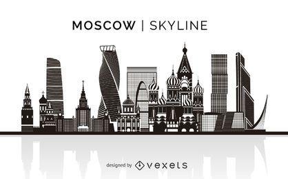 Skyline de silueta de Moscú