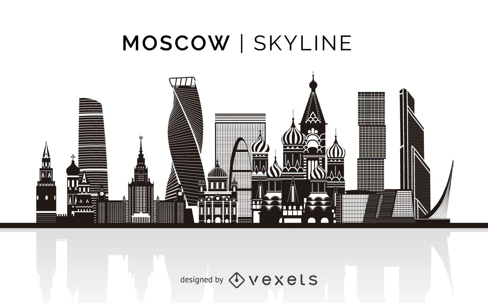 Moscow silhouette skyline