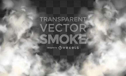 Humo vector realista transparente