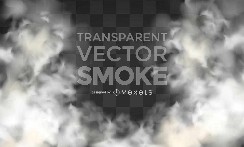 Realistischer transparenter Vektorrauch