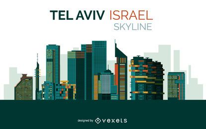 Diseño del horizonte de tel aviv