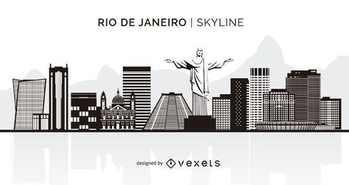 Horizonte de silueta de Río de Janeiro