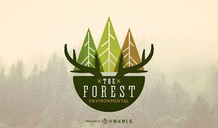 Design de modelo de logotipo de natureza