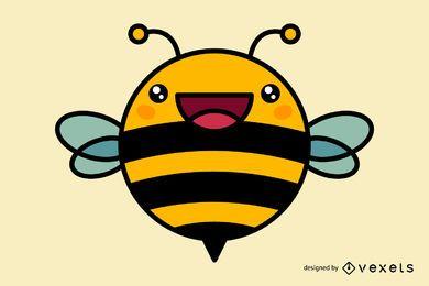 Desenhos animados bonitos da abelha