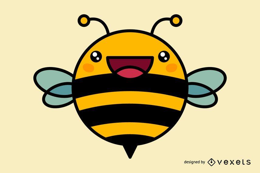 Cute, abelha, caricatura