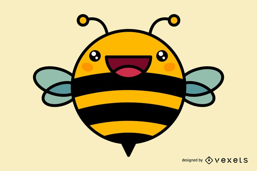 desenhos animados bonitos da abelha baixar vector