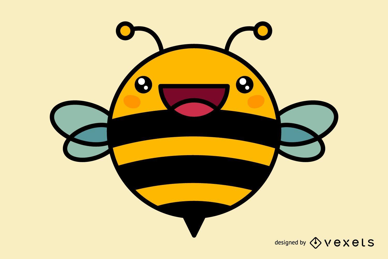 Cute dibujos animados de abejas