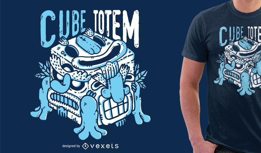 Mercadoria azul do design do tshirt do monstro