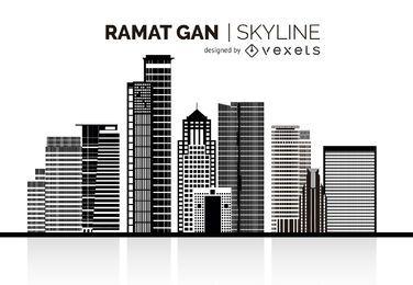 Horizonte de silueta de Ramat Gan
