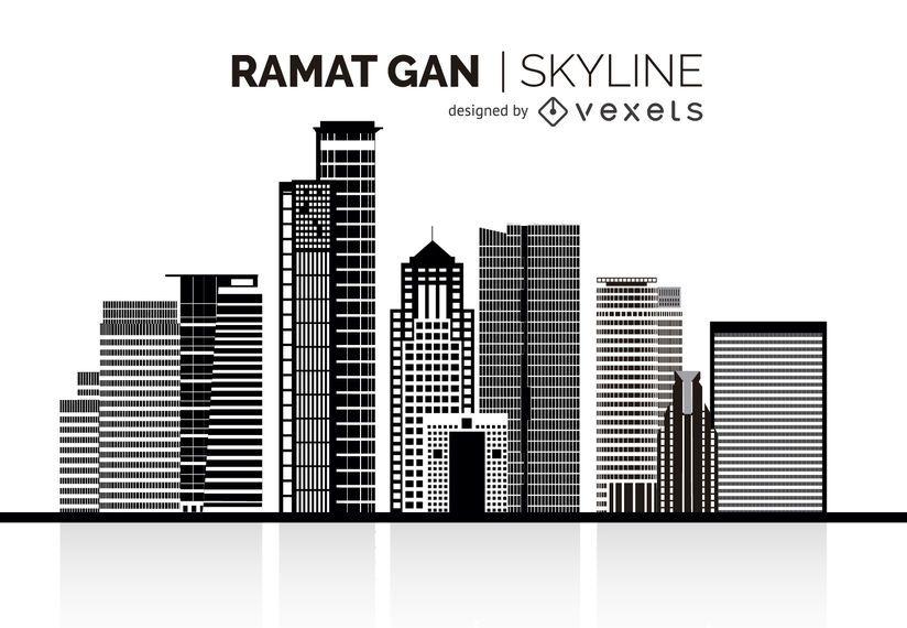 Ramat Gan silhouette skyline